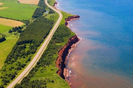 drone PEI bike tours