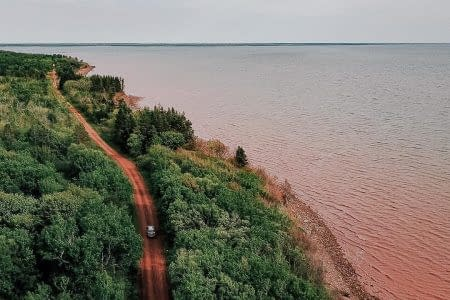 PEI bike tours trail dirt road