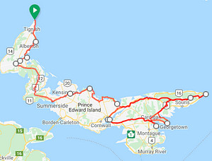 8 Day 7 Night Tip-to-Tip Eastern Loop PEI Bike Tour